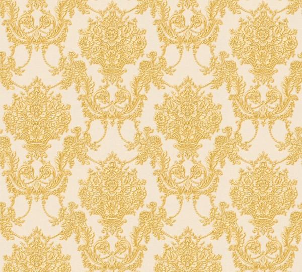 Vliestapete Barock Ornament creme gold glanz Chateau 5