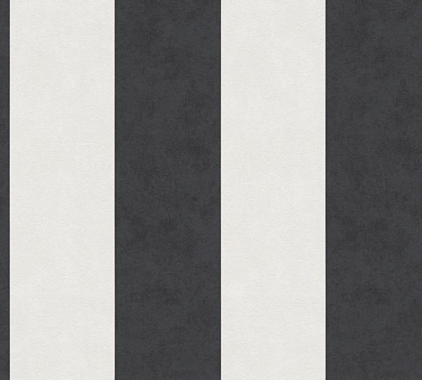 Vliestapete Streifen schwarz weiß Memory 3