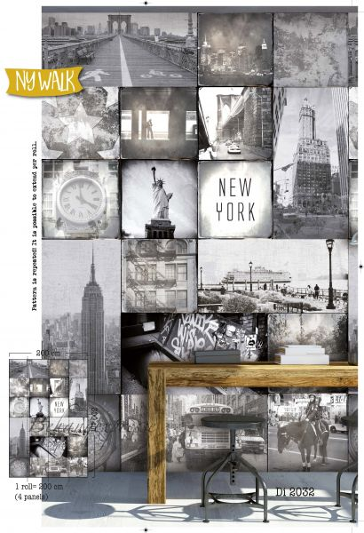 Vlies Fototapete New York Ny Walk Downtown Wandbild 200 x 300cm