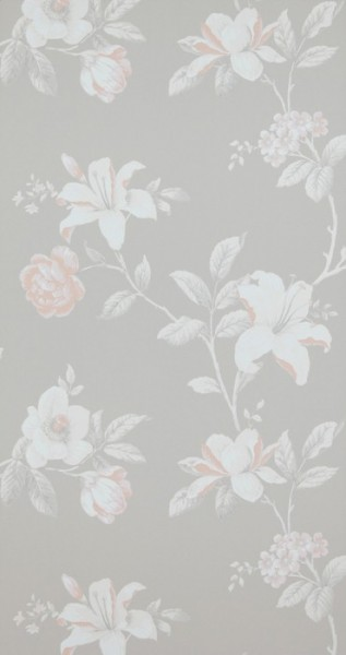 Vliestapete Blumenmuster creme grau rosé Summer Breeze