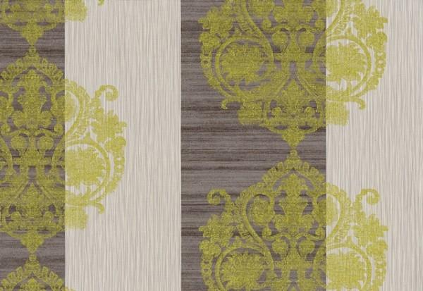Vliestapete Barock Muster Ornament Streifen Optik braun gold