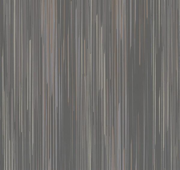 Vliestapete Streifen Struktur anthrazit braun glanz