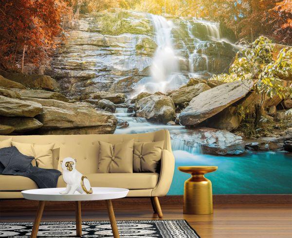 Fototapete Digitaldruck Wasserfall 255 x 350 cm