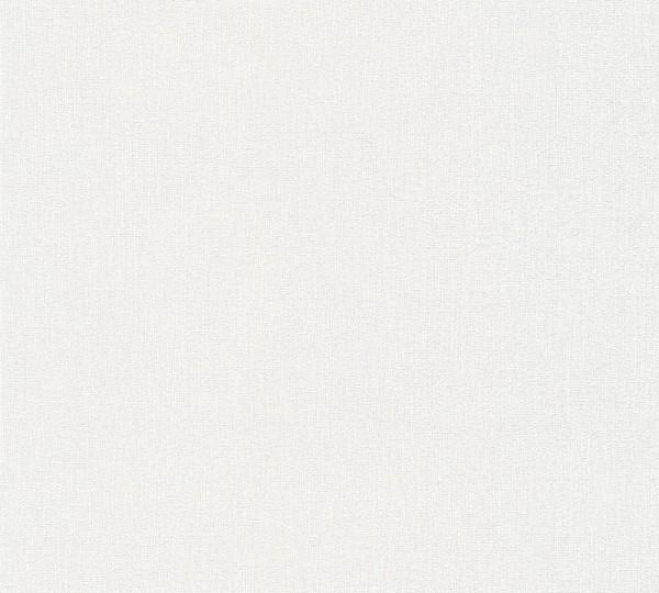 Vliestapete Uni Struktur weiß Elegance