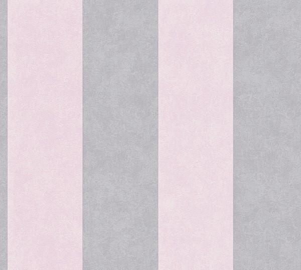 Vliestapete Streifen rosa grau Memory 3