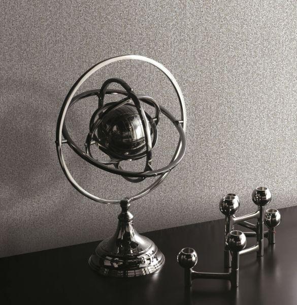 Vliestapete uni Struktur silber metallic design