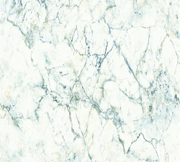 Vliestapete A.S Création Neue Bude 2.0 Marmor Optik weiß grün