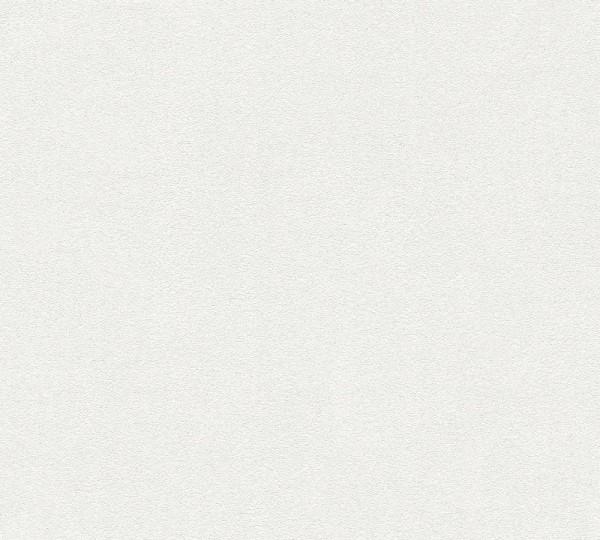 Vliestapete A.S Création Neue Bude 2.0 Uni weiß grau