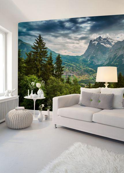 Fototapete Digitaldruck Blick auf die Berge 255 x 350 cm
