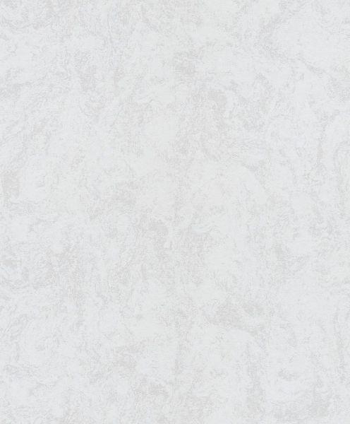 Vliestapete Carat Uni weiß grau meliert