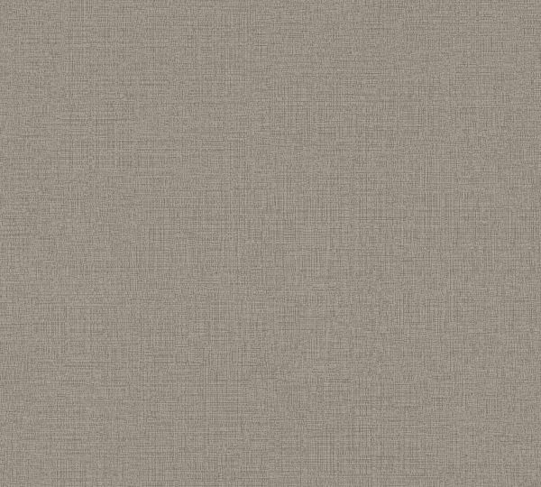 Vliestapete Uni Struktur Textil Leinen Optik braun