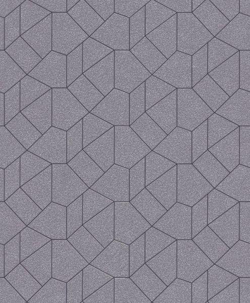 Vliestapete Carat grafisches Muster taupe beige gold schwarz glänzend