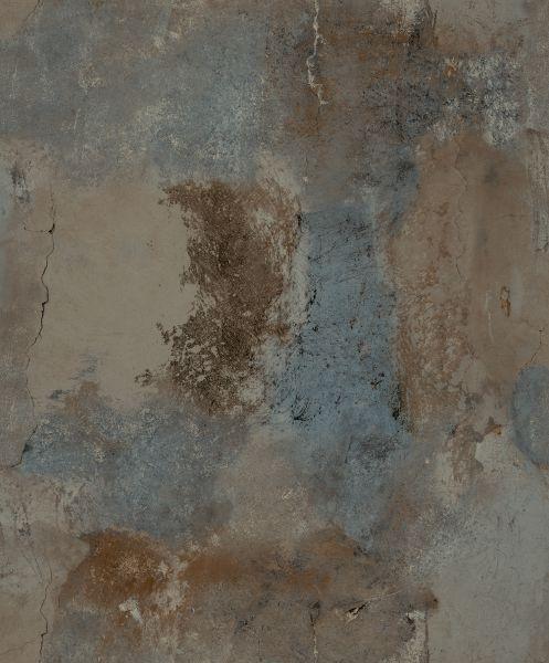 Vliestapete Beton Optik braun blau verwittert