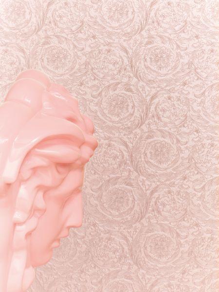 Versace 4 Vliestapete Kreis Ornament rose kupfer metallic