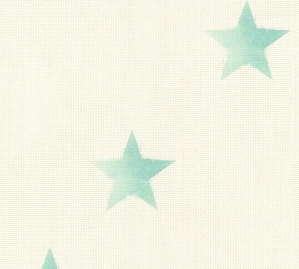 Vliestapete Sterne maritim beige grün Côte d`Azur