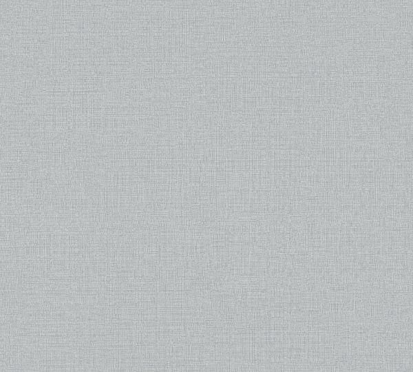 Vliestapete Uni Struktur Textil Optik graublau