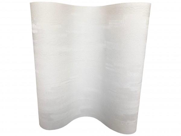 Vlies Tapete Uni Struktur Glitzer Effekt creme weiß