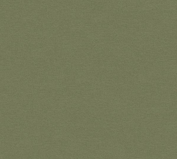 Uni Vlies Tapete Textil Optik oliv grün Palila