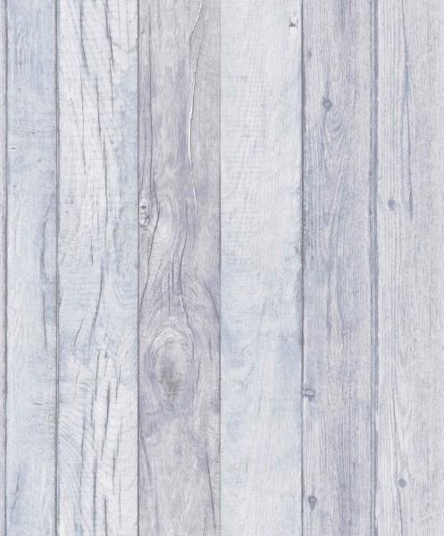 Vliestapete Antik Holz blau