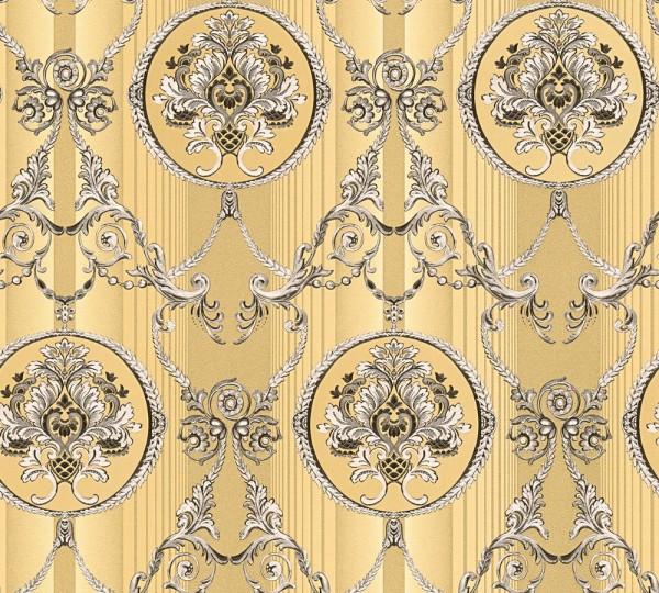 Vliestapete klassischer Barock gold metallic