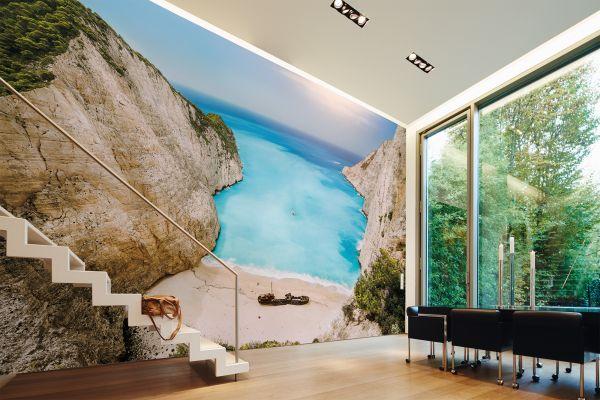 Fototapete Digitaldruck griechische Bucht 255 x 350 cm