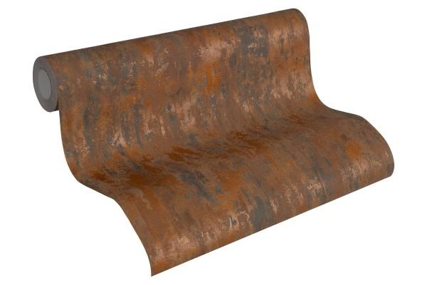 Steintapete Patina Struktur braun bronze metallic