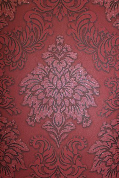Vliestapete Barock Ornament bordeaux rot