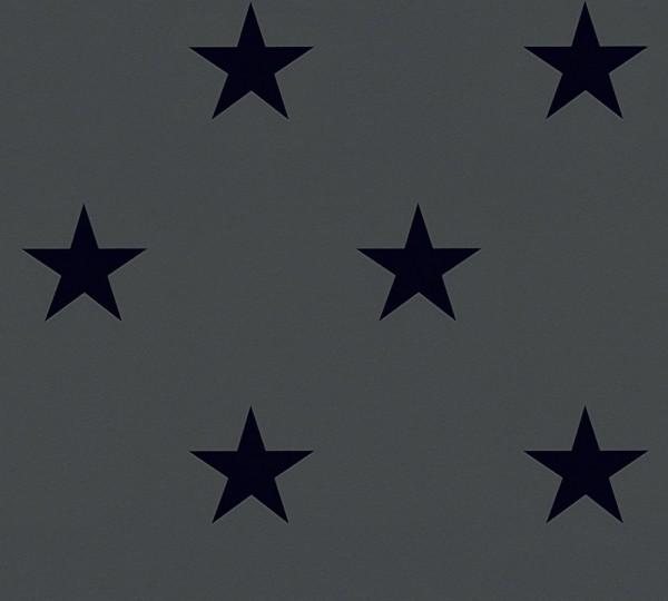 Sterne Tapete by Michalsky Living schwarz