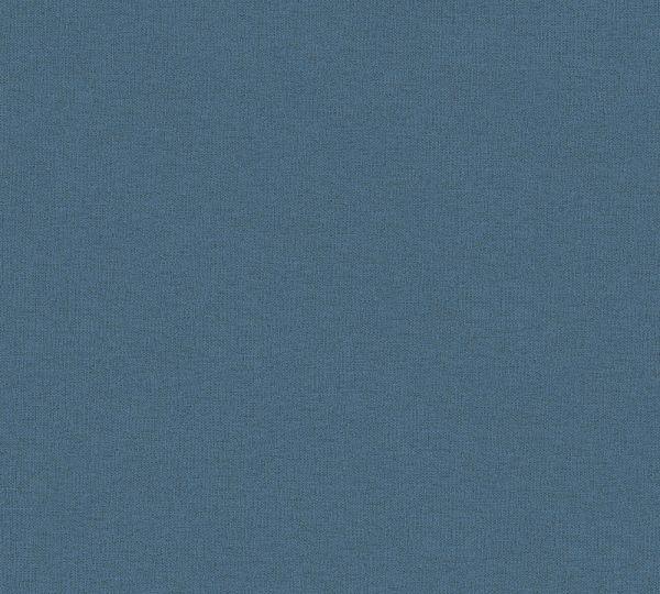 Uni Vlies Tapete Textil Optik petrol blau Palila