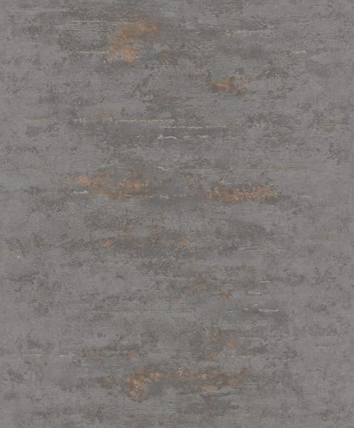 Vliestapete Uni Beton Stein Optik dunkel grau bronze