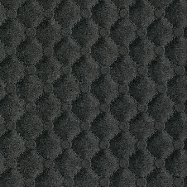 Leder Polster Chesterfield Optik Tapete schwarz