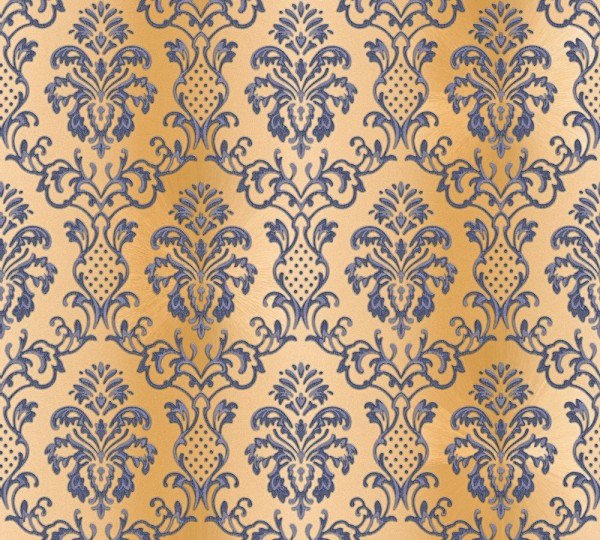 Vlies Tapete Barock Muster Ornament Glitzer