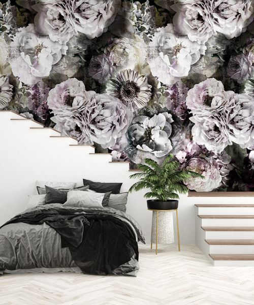 Vlies Fototapete opulente Blumen Pfingstrosen 200x280cm