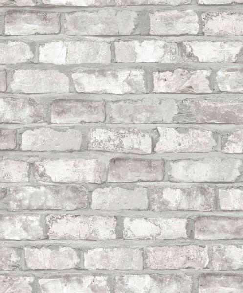 Vliestapete Ziegelstein Klinker creme grau 3104