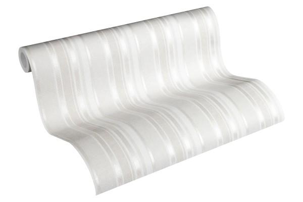 Vliestapete Kinder Streifen Muster creme silber