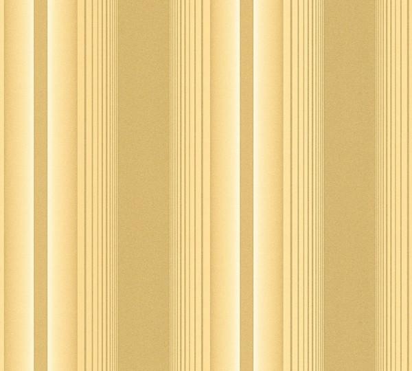 Vliestapete Streifen gold Glanz