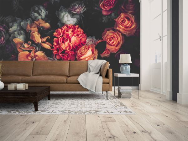 Fototapete Digitaldruck Romantic Flowers 255 x 350 cm