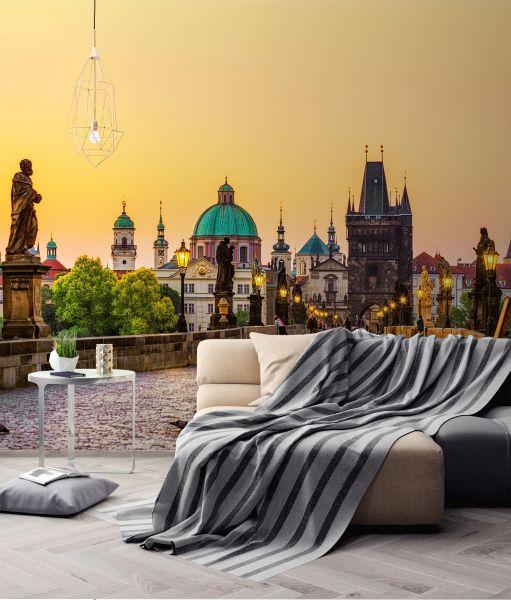 Fototapete Digitaldruck Karlsbrücke Prag 255 x 350 cm