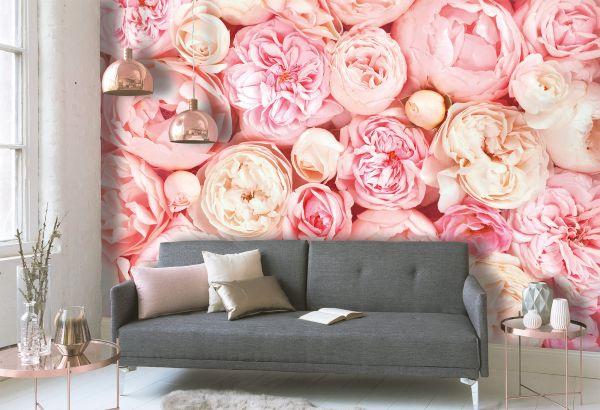 Fototapete Digitaldruck Botanical Rosen 255 x 350 cm