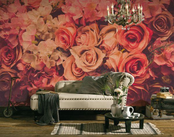 Fototapete Digitaldruck Flower Wall Rosen 255 x 350 cm