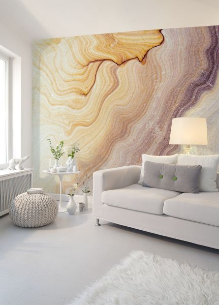 Fototapete Digitaldruck 3d Marmorwand Wellen 255 x 350 cm