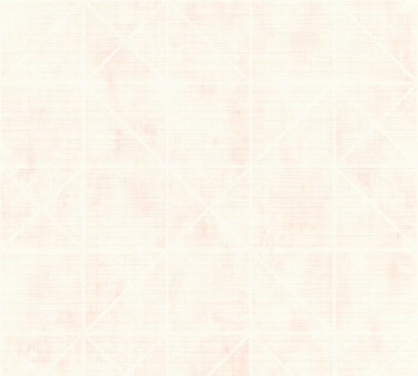 Vliestapete geometrische Grafik creme rosa