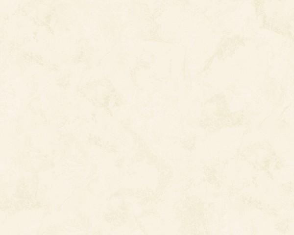 Uni Struktur Vliestapete Spachtelputz creme weiß