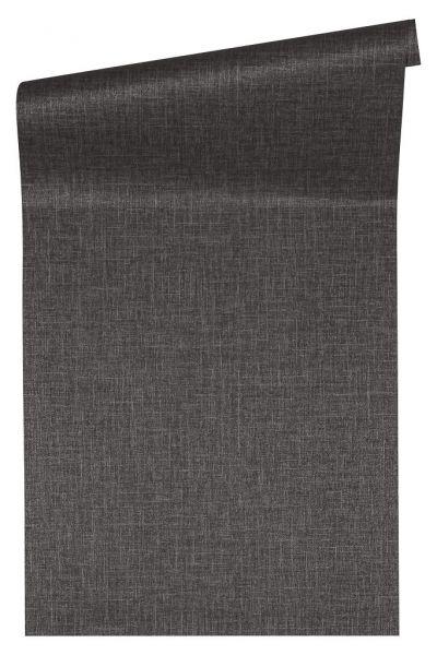 Uni Struktur Vliestapete schwarz grau metallic Versace 4