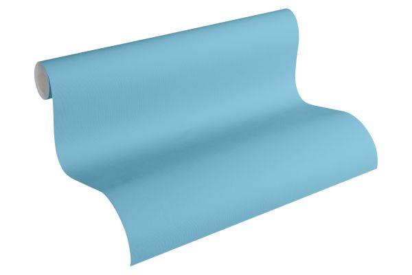Uni Struktur Tapete blau Esprit Kids