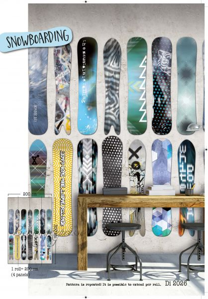 Vlies Fototapete Snowboard Sport Wandbild 200 x 300 cm