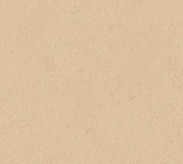 Vliestapete Uni Struktur glanz beige gold