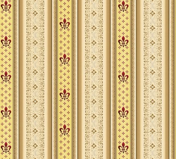 Vliestapete Streifen Heraldik Lilie beige braun