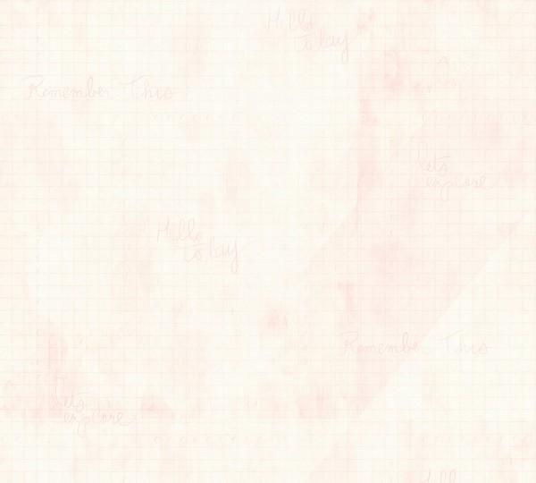 Vliestapete Karo Muster grafisch Schrift rosa