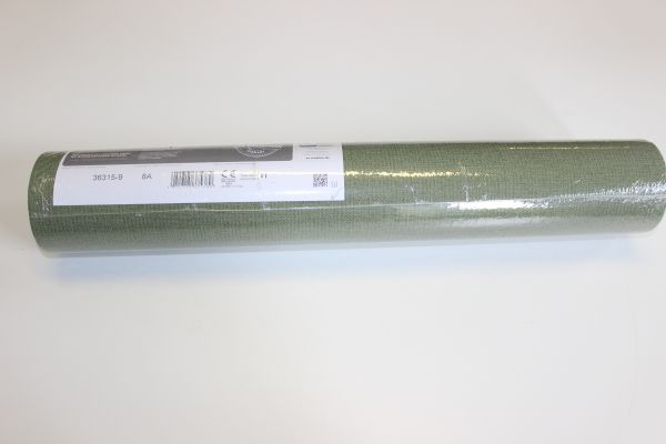 1 Restrolle Uni Vlies Tapete Textil Optik oliv grün Palila